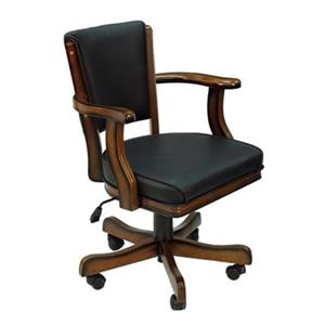 RAM Game Room Products Chestnut Swivel Cushioned Game Arm Chairs