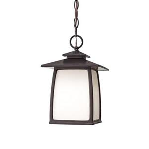Feiss Wright House Collection 7.88-in x 12.25-in Oil-Rubbed Bronze Lantern Pendant Light
