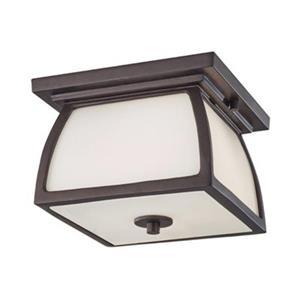 Feiss Wright House Oil-Rubbed Bronze 1-Light Outdoor Flush Mount Light