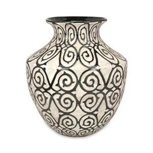 IMAX Worldwide Benigna 21-in Off-White Oversized Wide Floor Vase