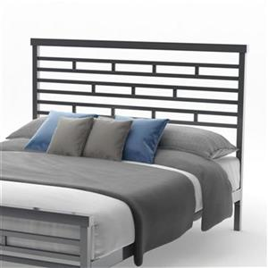 Amisco Highway Full Glossy Grey Headboard