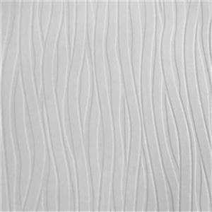Graham & Brown Superfresco 56 sq ft White Paintable Wavy Lines Unpasted Wallpaper