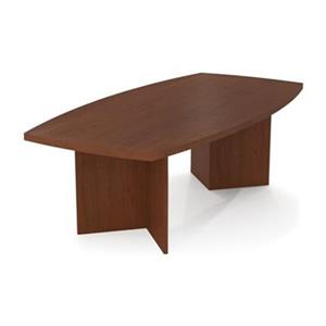 Bestar 30.40-in x 47.50-in Medium Brown Boat Shaped Conference Table