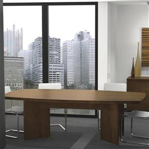 Bestar 30.40-in x 47.50-in Dark Brown Boat Shaped Conference Table