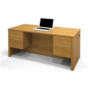 Embassy Executive Desk with Dual Half Pedestals