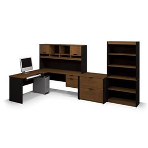 Bestar Innova L-Shaped Workstation with Accessories
