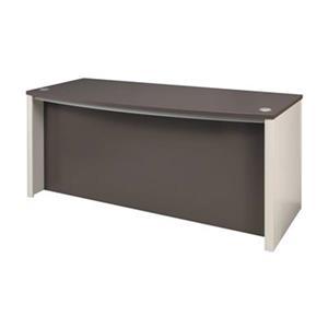 Bestar Connexion 30.40-in x 71.10-in Slate Sandstone Executive Desk