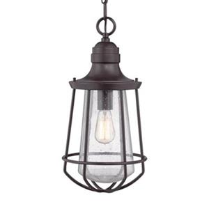 Quoizel Marine Collection 9.5-in x 20-in Western Bronze Hanging Lantern