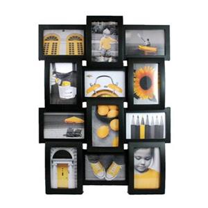 Nexxt Designs Curve 12 of 4-in x 6-in Openings Black Plastic Wall Collage Picture Frame