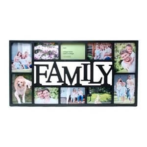 Nexxt Designs Family 10 Openings Black Collage Plastic Picture Frame