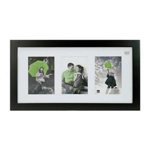 Nexxt Designs Langford 3 of 5-in x 7-in Openings Black Wood Picture Frame
