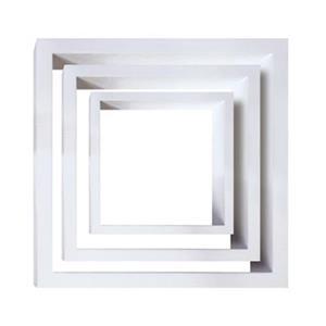 Nexxt Designs Cubbi White Wood Wall Shelves (Set of 3)