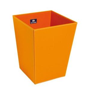 WS Bath Collections Ecopelle Complements 11.80-in x 9.10-in Orange Waste Basket