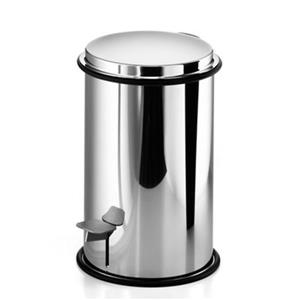 WS Bath Collections 10.80-in x 7.30-in Linea Stainless Steel Foot Pedal Waste Basket