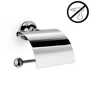 WS Bath Collections Venessia Polished Chrome  Self-Adhesive Toilet Paper Holder With Cover