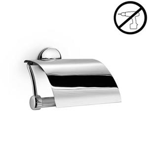 WS Bath Collections Noanta Polished Chrome  Self-Adhesive Toilet Paper Holder with Cover
