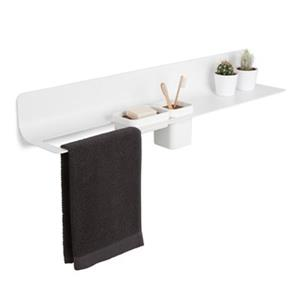WS Bath Collections Curva 31.50-in White Towel and Accessories Holder