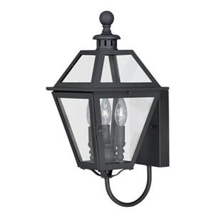 Cascadia Nottingham 3-Light Black Outdoor Wall Lantern