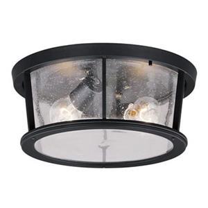 Cascadia Coventry 2-Light Bronze Round Outdoor Flush Mount Ceiling Light