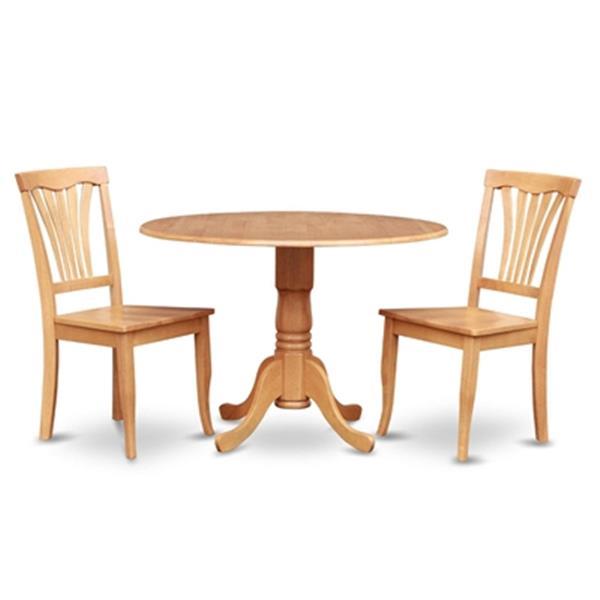 East West Furniture Dublin Light Oak 3 Piece Round Drop Leaf Dining Set Lowe S Canada
