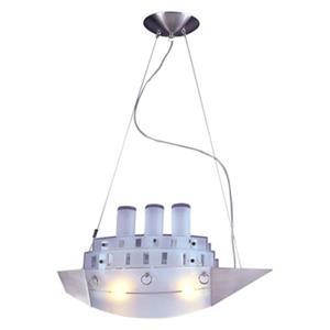 Design Living 8.27-in x 31.5-in Chrome Ship Kids Ceiling Light