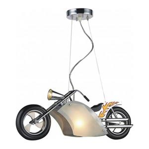 Design Living 7.09-in x 31.5-in Antique Silver Motorcycle Kids Ceiling Light