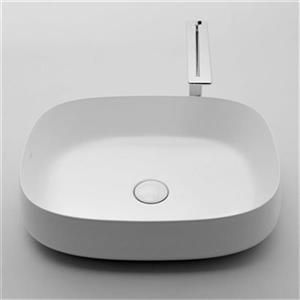 WS Bath Collections Seed 21.70-in x 17.70-in White Ceramic Oval Vessel Bathroom Sink