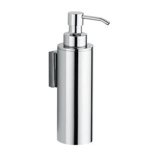 WS Bath Collections Iceberg 7-in Chrome Wall Mounted Soap Dispenser