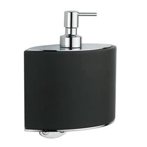 WS Bath Collections Glam 6.90-in Black Wall Mounted Soap Dispenser