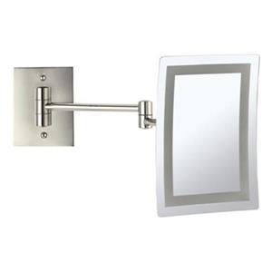 Nameeks Glimmer Satin Nickel LED Light Wall Mounted Make-Up Mirror