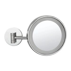 Nameeks Glimmer 8-in Chrome LED Light Wall Mounted Make-Up Mirror