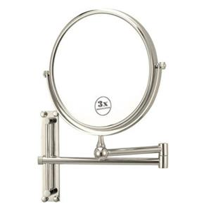 Nameeks Glimmer 8-in x 8-in Chrome Wall Mounted Make-Up Mirror