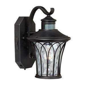 Cascadia Abigail Smart Light Black Motion Sensor Dusk to Dawn Outdoor Wall Light