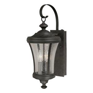 Cascadia Hanover 3-Light Dusk to Dawn Bronze Outdoor Wall Lantern