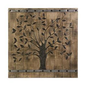 IMAX Worldwide 36-in x 36-in Tree of Life Wood Wall Panel