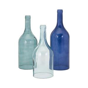 IMAX Worldwide Monteith Blue Cloche Bottles (Set of 3)