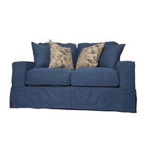 Sunset Trading Americana Blue Loveseat Slipcover Set