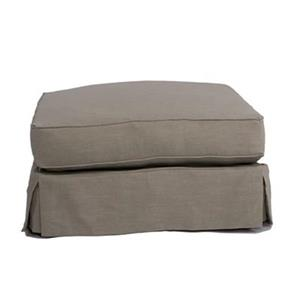 Sunset Trading Americana Gray Ottoman Slipcover Set