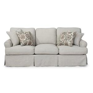 Sunset Trading Horizon Gray Slipcover for T-Cushion Sofa