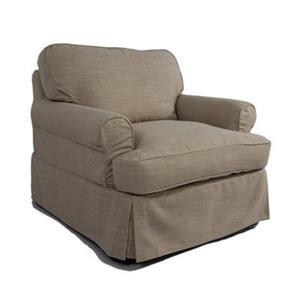 Sunset Trading Horizon Tan Linen Slipcover for T-Cushion Club Chair