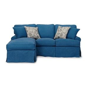 Sunset Trading Horizon Blue Slipcover for T-Cushion Sofa with Chaise