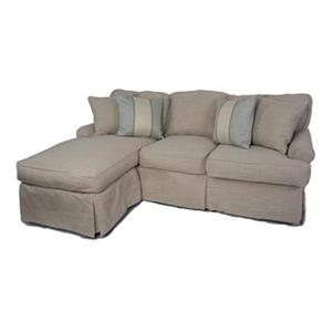 Sunset Trading Horizon Tan Linen Slipcover for T-Cushion Sofa with Chaise