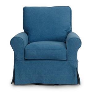 Sunset Trading Horizon Blue Swivel Chair Slipcover Set
