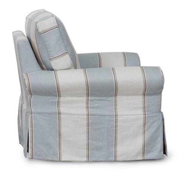 Phenomenal Sunset Trading Horizon Blue Swivel Chair Slipcover Machost Co Dining Chair Design Ideas Machostcouk