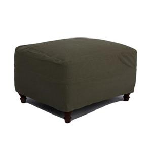 Sunset Trading Seacoast Slipcovered Forest Green Ottoman