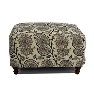 Sunset Trading Seacoast Slipcovered Contemporary Floral Fabric Ottoman