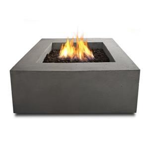 """Baltic Propane Fire Table - 24"""" x 24"""" x 4"""" - Glacier Gray"""