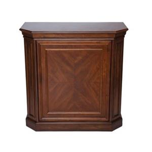 RAM Game Room Products Black Bar Cabinet With Spindle