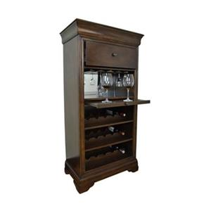 RAM Game Room Products 54-in x 27-in Chestnut Brown Bar Cabinet With Wine Rack