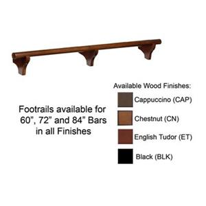 RAM Game Room Products 60-in Dry Bar Foot Rail - Black